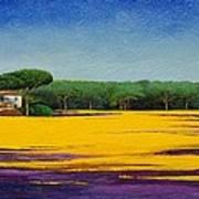 Tuscan Landcape Print by Trevor Neal