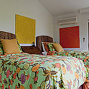 Two Twin Beds Print by Inti St. Clair