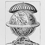 Tycho's Great Brass Globe Print by Science, Industry & Business Librarynew York Public Library