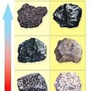 Types Of Volcanic Rock Print by Gary Hincks