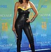 Tyra Banks Wearing A Thierry Mugler Print by Everett