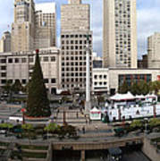 Union Square Sf Print by Ron Bissett