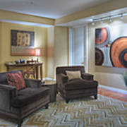 Upscale Living Room Interior Print by Andersen Ross