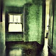 Upstairs Hallway In Old House Print by Jill Battaglia