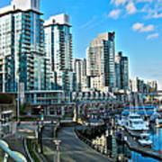 Vancouver Harbour Print by Kamil Swiatek