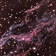 Veil Nebula In Cygnus Print by USNO / Science Source