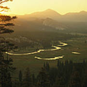 View At Dawn Of The Tuolumne River Print by Phil Schermeister