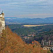 View From Koenigstein Fortress Germany Print by Christine Till