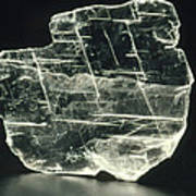 View Of A Sample Of Selenite, A Form Of Gypsum Print by Kaj R. Svensson