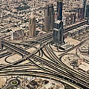 View Of Burj Khalifa Print by Luc V. de Zeeuw