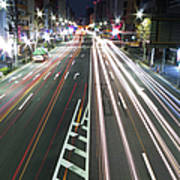 View Of Traffic At Nihonbashi, Tokyo, Japan Print by Billy Jackson Photography