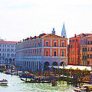 View Of Venice's Market Print by Christiane Kingsley