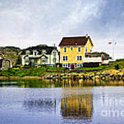 Village In Newfoundland Print by Elena Elisseeva