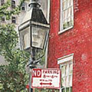 Village Lamplight Print by Debbie DeWitt