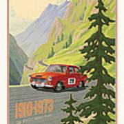 Vintage Austrian Rally Poster Print by Mitch Frey