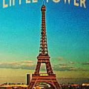 Vintage Eiffel Tower Print by Flo Karp