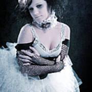 Vintage Portrait Of A Dancer Print by Cindy Singleton