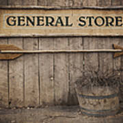 Vintage Sign General Store Print by Jane Rix