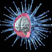Virus Intelligence Print by Laguna Design