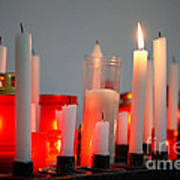 Votive Candles Print by Gaspar Avila