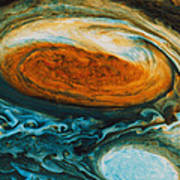 Voyagers View Of The Great Red Spot, An Print by Nasa