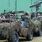 Vw Iltis Jeeps Of A Recce Scout Unit Print by Luc De Jaeger