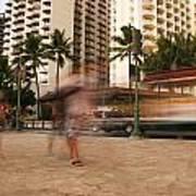 Waikiki Blur Print by Ashlee Meyer