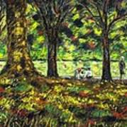 Walk In The Park Print by John  Nolan
