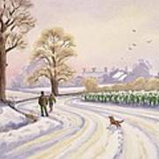 Walk In The Snow Print by Lavinia Hamer
