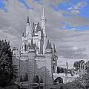 Walt Disney World - Cinderella Castle Print by AK Photography