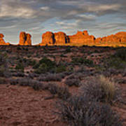 Warm Glow Over Arches Print by Andrew Soundarajan