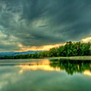 Warren Lake At Sunset Print by Anthony Doudt