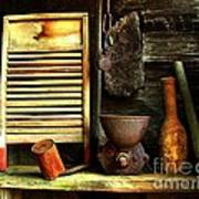 Washboard Still Life Print by Julie Dant