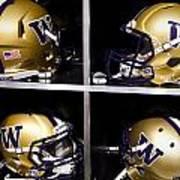 Washington Huskies Football Helmets  Print by Replay Photos