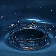 Water Drop Impact Print by Linda Wright
