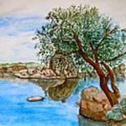 Watson Lake Prescott Arizona Peaceful Waters Print by Sharon Mick