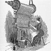 Weaving Loom Print by �science, �industry & Business Librarynew York Public Library