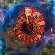 Wee Manhattan Planet - Artist Rendition Print by Nikki Marie Smith
