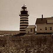West Quoddy Lighthouse Print by Skip Willits