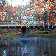West Valley Green Road Bridge Along The Wissahickon Creek Print by Bill Cannon