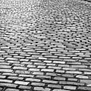 Wet Cobblestoned Huntly Street In The Union Street Area Of Aberdeen Scotland Print by Joe Fox