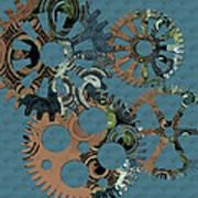 Wheels Print by Bonnie Bruno
