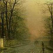 Where The Pale Moonbeams Linger  Print by John Atkinson Grimshaw