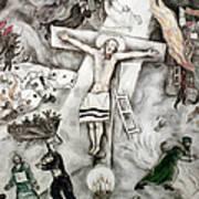 White Crucifixion Print by Granger