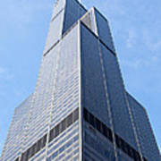 Willis-sears Tower In Chicago Print by Paul Velgos