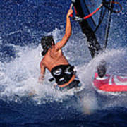 Wind Surfing Print by Manolis Tsantakis