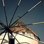 windmill Greece Print by Joana Kruse
