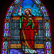 Window In Trinity Church Iv Print by Steven Ainsworth