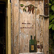 Wine A Bit Door Print by Sally Weigand