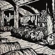 Wine Cellar Print by William Cauthern